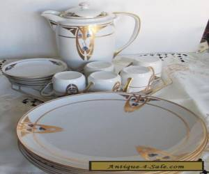 RARE AMAZING ART DECO COMPLEET DESERT TEA SET for Sale