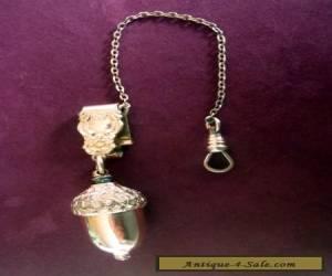 Antique Vinaigrette  Chatelaine Gold Acorn with Chain  1877 for Sale