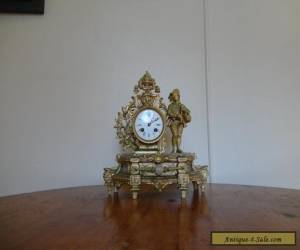Antique Gilt Striking Mantel Clock French circa 1870s E. M. & Co for Sale