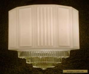 Vintage Swag Hanging Lamp Glass Globe Ceiling Mount Light Fixture Art Deco for Sale