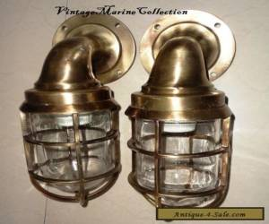 NEW MARINE BRASS SHIP PASSAGE LIGHT WITH ANTIQUE FINISH - SET OF 2 PIECE for Sale