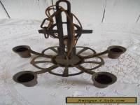 VINTAGE CAST IRON CHANDELIER HANGING LIGHT FIXTURE 5 LIGHT BASE REPURPOSE