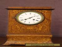 Antique French brazilian rosewood marquetry inlaid pendulum clock ormolu 1830