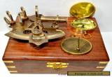 MARITIME COLLECTIBLE NAUTICAL BRASS GERMAN SEXTANT W/WOODEN BOX GIFT for Sale