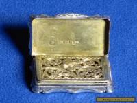 Antique Victorian Sterling Silver Vinaigrette, Nathaniel Mills Birmingham