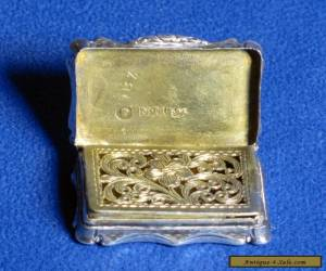 Antique Victorian Sterling Silver Vinaigrette, Nathaniel Mills Birmingham for Sale