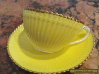 CAULDON BROWN WESTHEAD MOORE & CO YELLOW GOLD TEACUP & SAUCER
