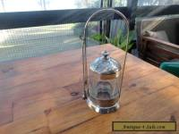 Antique Victorian Silver Plate Pickle Jar/Table Castor