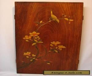 Japanese Meiji Period Shibayama Lacquer Decorated Paulownia Wood Panel for Sale