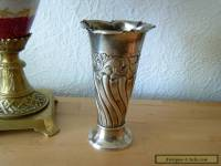 RARE Russian 84 Silver Cup Flower VASE, Moscow hallmark Romanov dynasty period