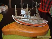Charleston Shrimp Trawler Work Boat Wooden Base- Exceptional Model