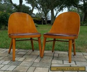 Pair Mid Century Modern Shelby Williams Chair Danish molded wood Wooden Chair for Sale