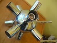 Chrome Sputnik 1960's Swivel Ceiling Fixture Mid Century