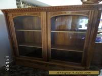 Antique Vintage Curio Cabinet - China Cabinet - Solid Oak Cabinet - 1800's
