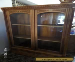 Antique Vintage Curio Cabinet - China Cabinet - Solid Oak Cabinet - 1800's for Sale