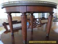 ANTIQUE/VINTAGE MARBLE TOP DANBY FURNITURE CO. ROUND END TABLE