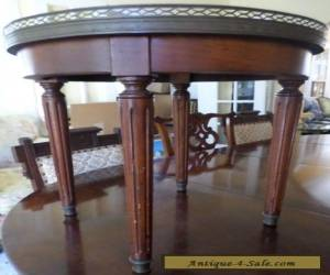 ANTIQUE/VINTAGE MARBLE TOP DANBY FURNITURE CO. ROUND END TABLE for Sale