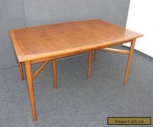 Vintage Drexel HERITAGE Danish Mid Century Modern DINING ROOM TABLE 2 Leaves for Sale