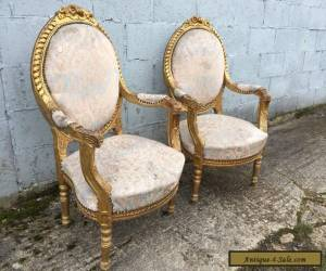 Item Beautiful, Pair, French, Louis XV Chairs, Original, Antique/vintage, RARE for Sale
