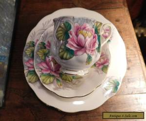 ROYAL ALBERT TRIO WATER LILY #7 FLOWER OF THE MONTH for Sale