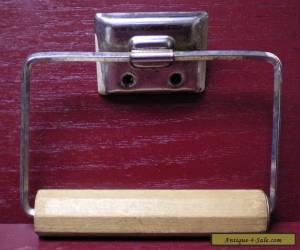 VINTAGE WOODEN AND METAL TOILET PAPER HOLDER #1 for Sale