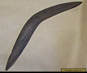ABORIGINAL CARVED WOODEN WEST AUSTRALIAN PAY BACK BOOMERANG  for Sale