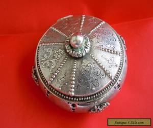RARE Russian 84 Silver Jewelry BOX Romanov dynasty period Moscow 19th century  for Sale