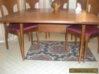 Mid Century Danish Modern Set Kroehler Dining Chairs Sculpted Upholstered