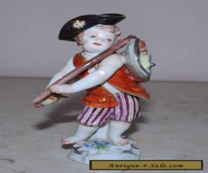Meissen Painted Porcelain Cherub Figure 'Fisherman' late 19th century  for Sale