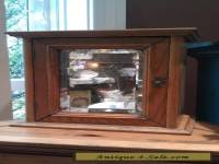 Antique Turn of the Century Golden Oak Medicine Cabinet