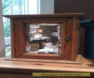 Antique Turn of the Century Golden Oak Medicine Cabinet for Sale