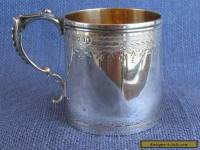 Heavy silver christening mug, London 1876