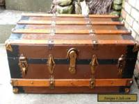 Antique ~ Vintage Steamer Trunk Blanket Box Coffee Table Chest FREE SHIPPING !