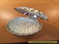 VINTAGE SILVERPLATE CLAM SHELL BUTTER DISH  MADE IN ENGLAND