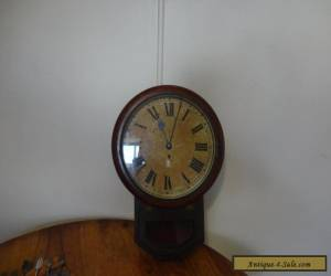 Antique railway working fusee clock for Sale