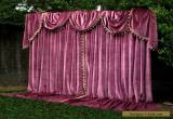 PARIS Apt GERMAN VELVET VINTAGE CURTAINS SWAGS/TAILS THEATRE STUDIO PORTIERE X-L for Sale
