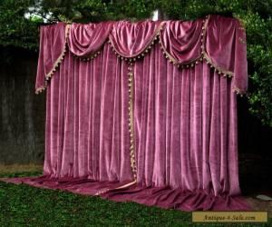 Paris Apt German Velvet Vintage Curtains Swags Tails