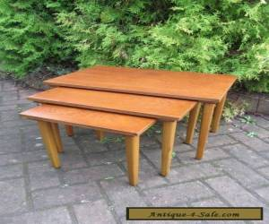 MID CENTURY DANISH MODERN 1960's TEAK NEST OF TABLES COFFEE - MCM for Sale