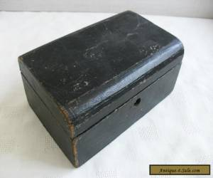 ANTIQUE LEATHER CLAD SMALL JEWELLERY BOX FOR RESTORATION for Sale