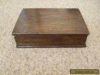VINTAGE SOLID OAK WOODEN DOVETAILED BOX.