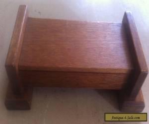 "ANTIQUE / VINTAGE WOODEN BOX -9.5"" LONG X 5.3"" WIDE X 3.2"" HIGH -DESK PEN HOLDER for Sale"