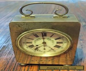 Small Antique Silver Clock with Cloth Back for Sale