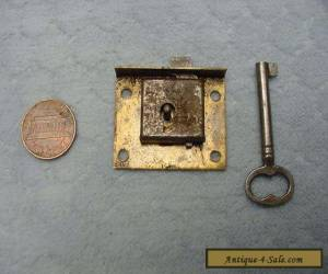 Cabinet Lock Cupboard Drawer Brass Vintage Tiny for Sale