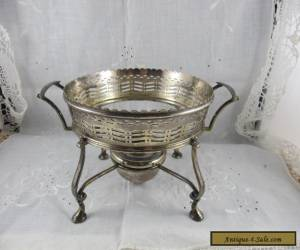 WALKER & HALL SPIRIT BURNER & STAND SILVERPLATE SILVER PLATED TEAPOT WARMER a/f for Sale