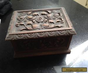 ANTIQUE WOODEN BOX WITH CARVED DETAIL - wood/woodenware for Sale