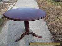 Vintage Oval Top Mahogany Table Stand Three legs Solid Wood
