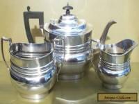 Quality George V sterling silver three piece tea set,1911,961grams,Mappin & Webb