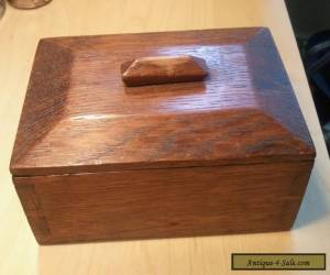 Handmade 1930s dovetailed wooden box.Simple and elegant -apprentice piece? for Sale