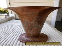 Vintage Solid Copper Vase in an Art Novel Style