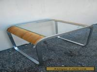 Mid-Century Glass-Top Side Table / End Table #2682B